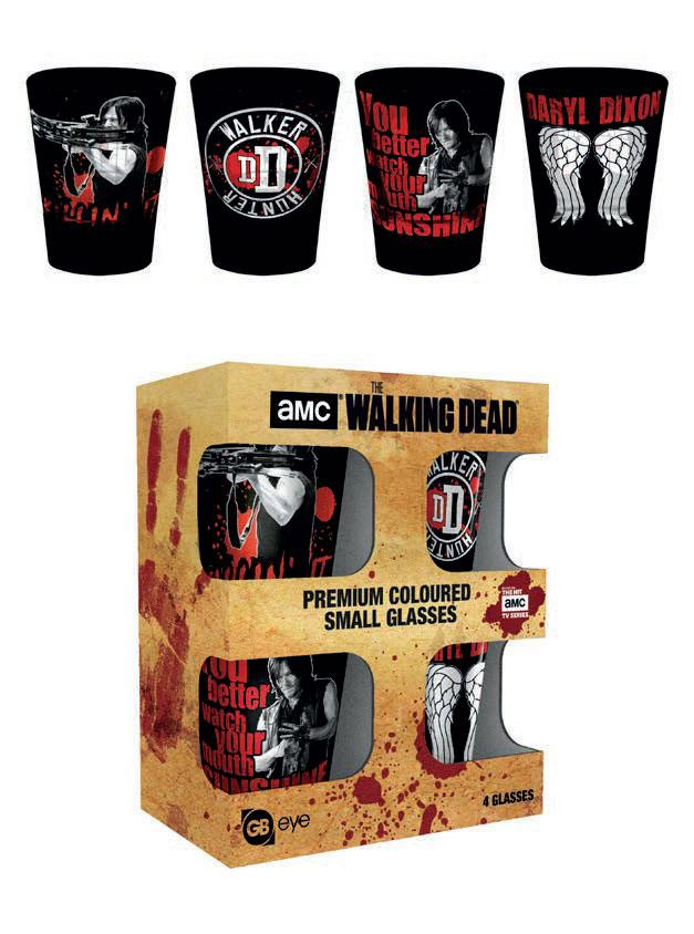 Walking Dead Premium Shotglass 4-Pack Daryl Dixon