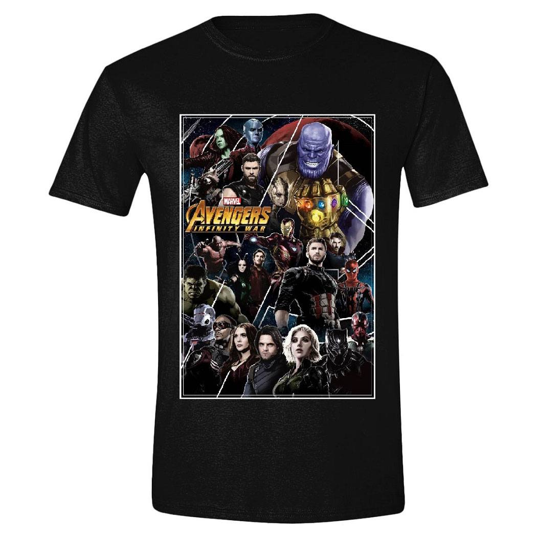 Avengers Infinity War T-Shirt Characters Frame Size L