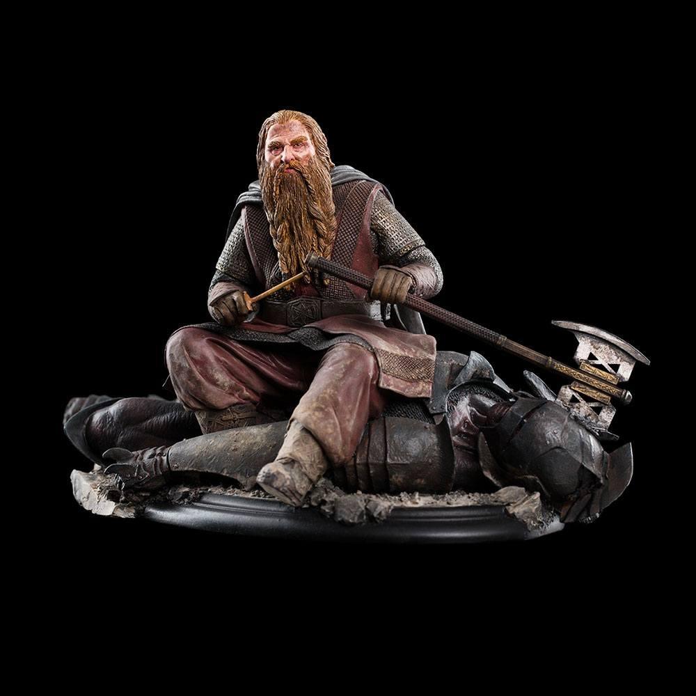 Lord of the Rings Statue Gimli The Dwarf On Uruk-Hai 43 11 cm