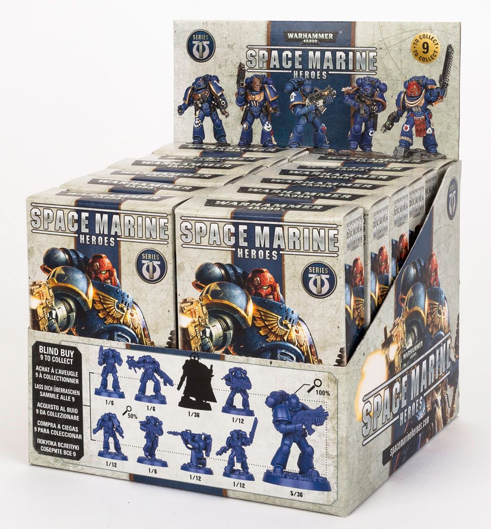 Warhammer 40.000 Miniature Models Space Marine Heroes Series 1 Display (12)