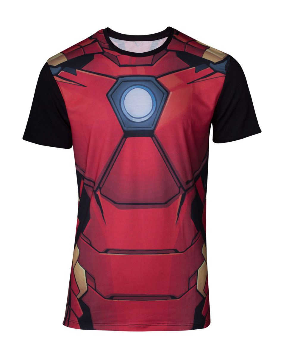 Marvel Sublimation T-Shirt Iron Man Size S