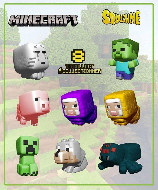 Minecraft Squishme Anti-Stress Figures 6 cm Series 1 Display (24)