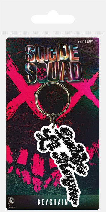 Suicide Squad Rubber Keychain Daddy's Lil Monster 6 cm