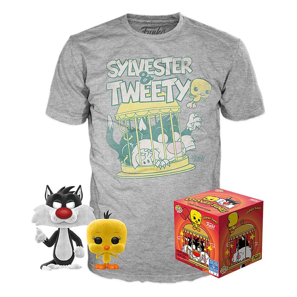 Looney Tunes POP! & Tee Box Sylvester & Tweety Size M
