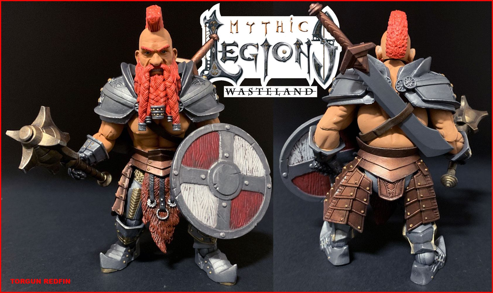 Mythic Legions: Wasteland Actionfigur Torgun Redfin 15 cm