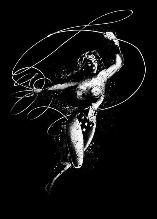 DC Comics Metal Poster DC Dark Edition Wonder Woman 10 x 14 cm