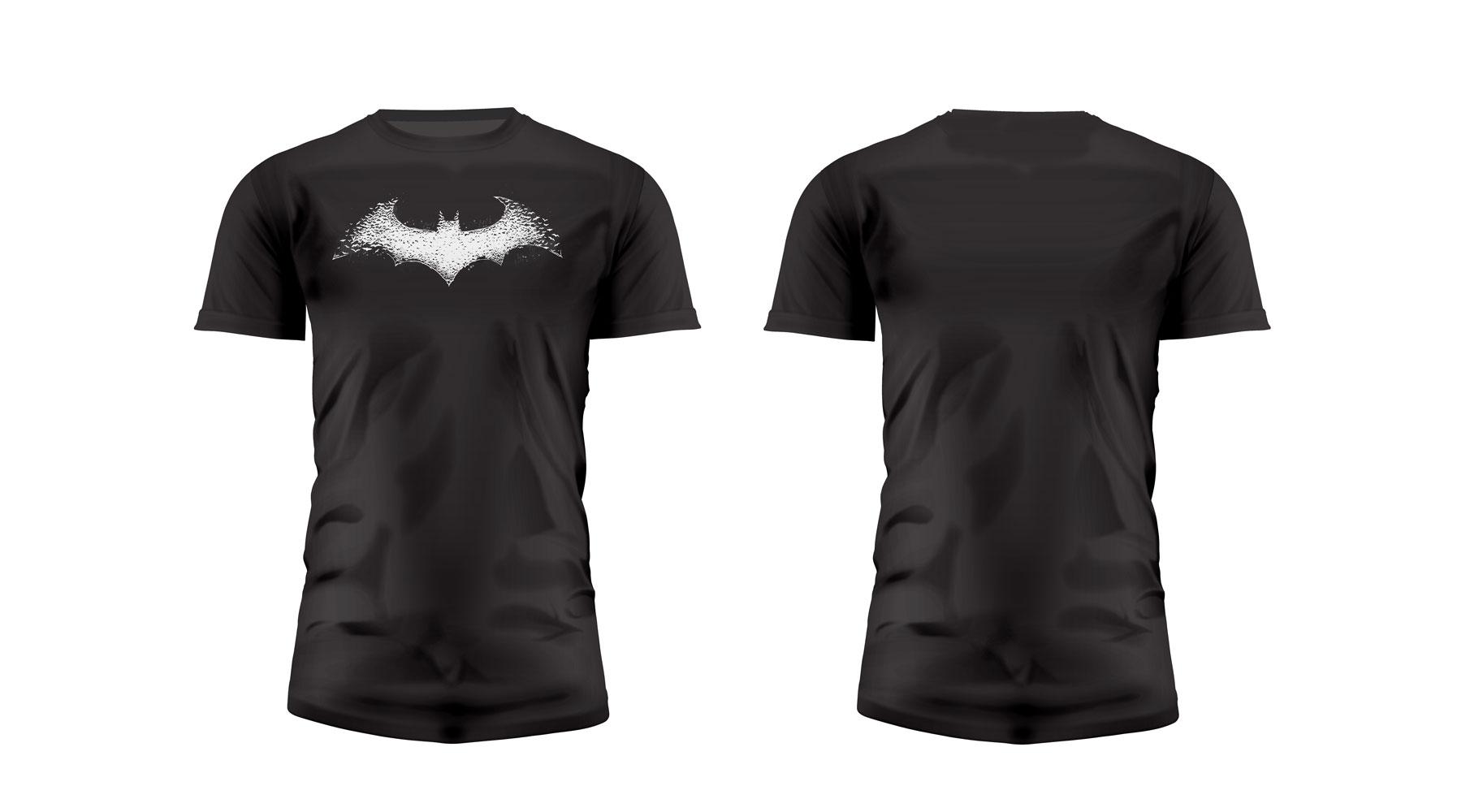Batman T-Shirt Graphics Logo Black  Size M