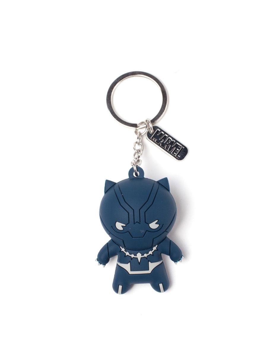Marvel 3D Rubber Keychain Black Panther Character 7 cm