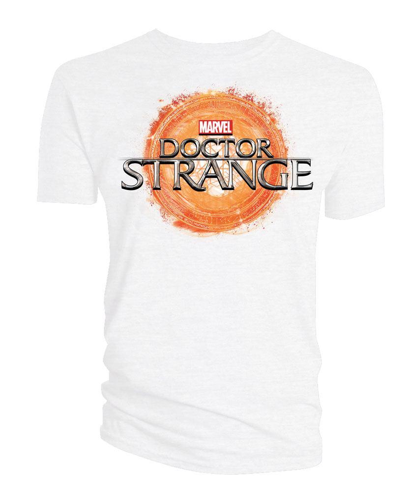 Doctor Strange T-Shirt Logo white Size XL