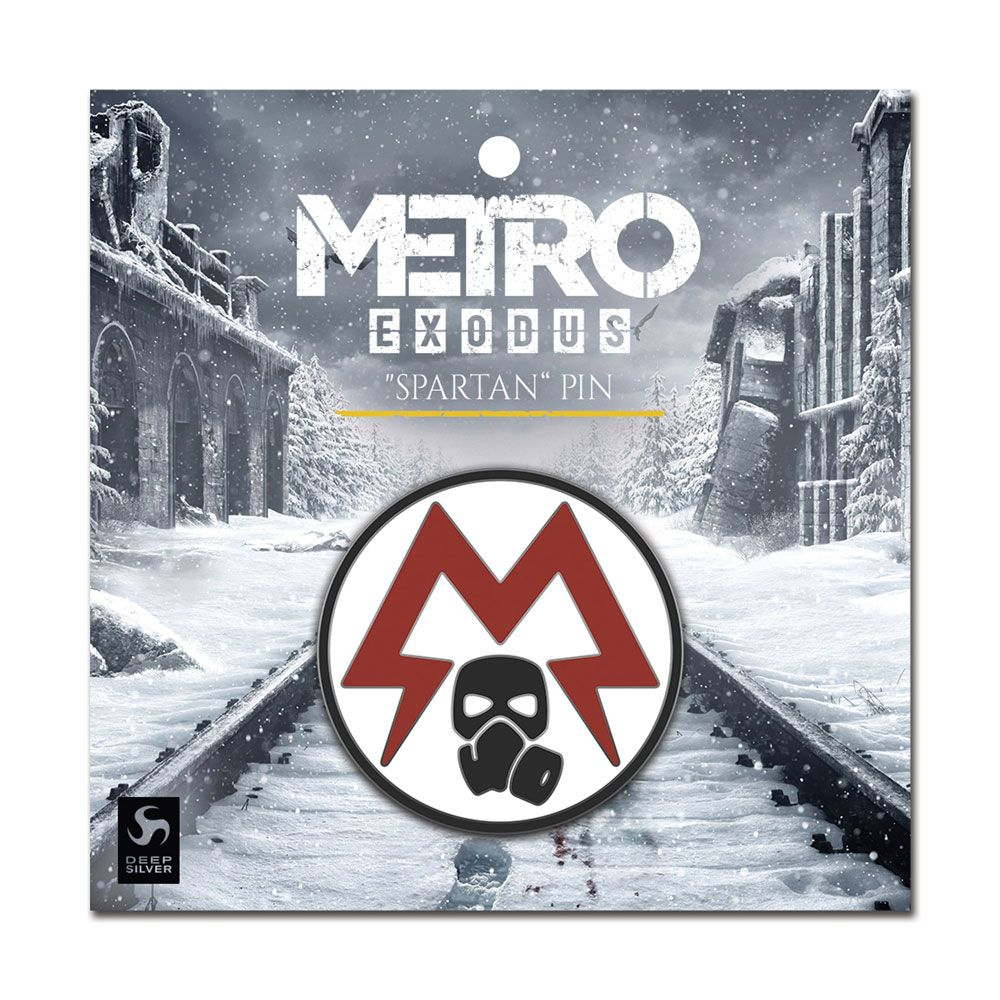 Metro Exodus Pin Badge Spartan Logo