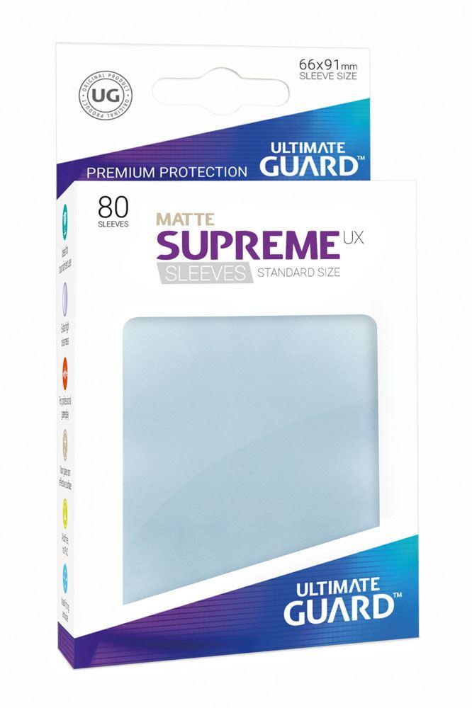 Ultimate Guard Supreme UX Sleeves Standard Size Matte Transparent (80)