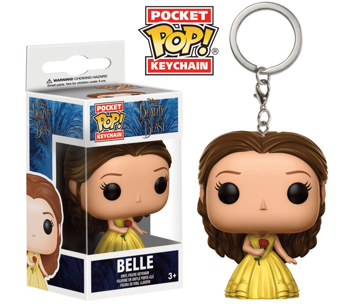 Beauty and the Beast Pocket POP! Vinyl Keychain Belle 4 cm