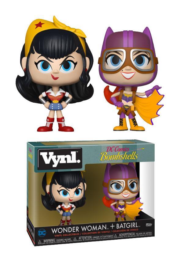 DC Bombshells Vnyl. Figures 2-Pack Wonder Woman + Batgirl 10 cm