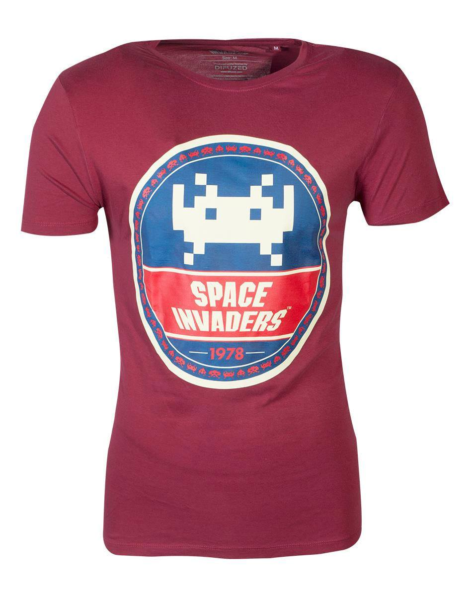 Space Invaders T-Shirt Round Invader Size M
