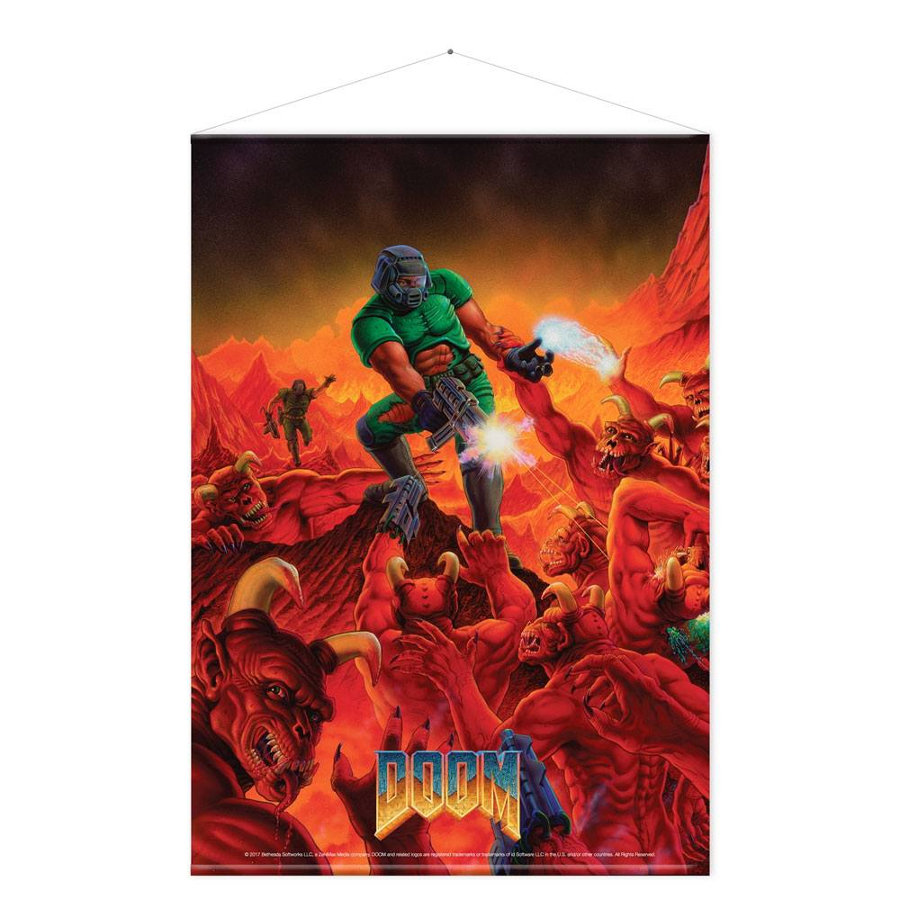 Doom Wallscroll Retro 100 x 77 cm