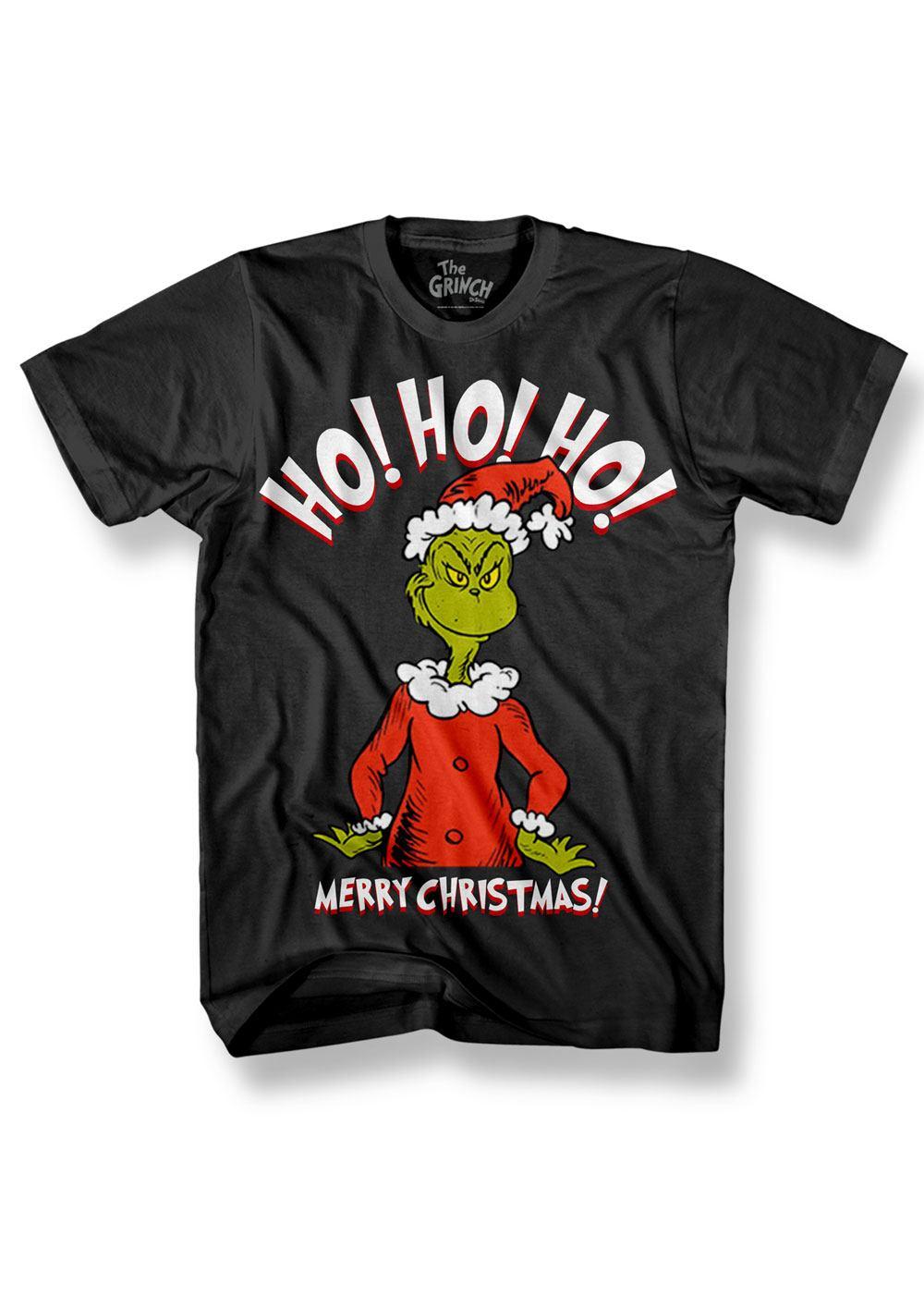 Grinch T-Shirt HO HO HO! Size L