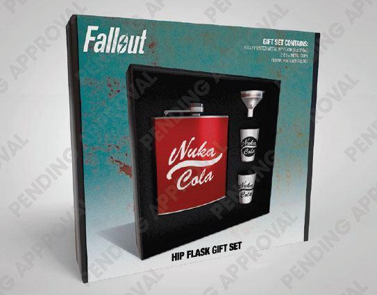 Fallout Hip Flask Set Nuka Cola