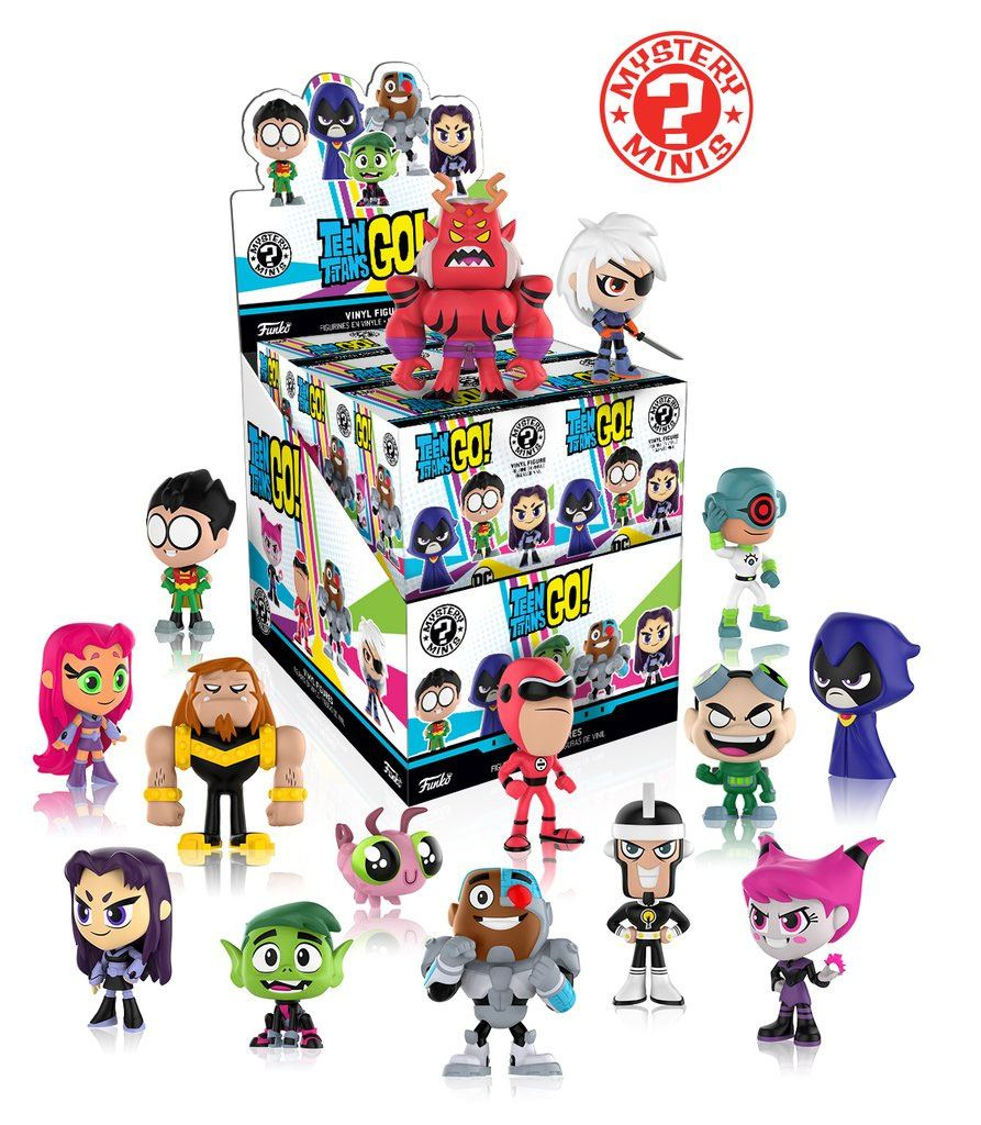 Teen Titans Go! Mystery Minis Vinyl Mini Figures 6 cm Display Series 1 (12)