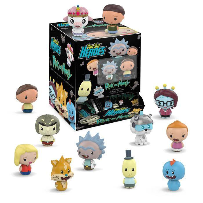 Rick and Morty Pint Size Heroes Mini Figures 6 cm Display (24)