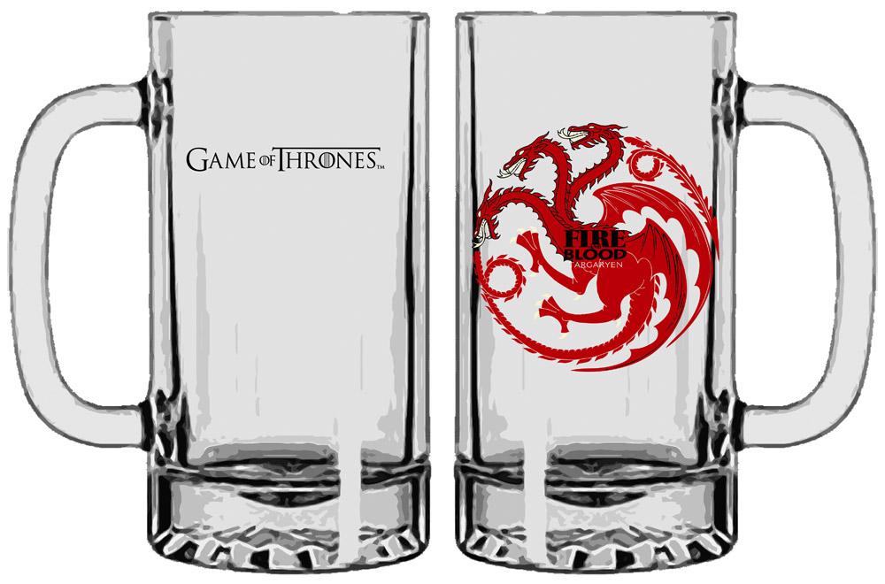 Game of Thrones Beer Glass Targaryen