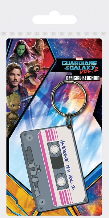 Guardians of the Galaxy Vol. 2 Rubber Keychain Awesome Mix Vol. 2 6 cm