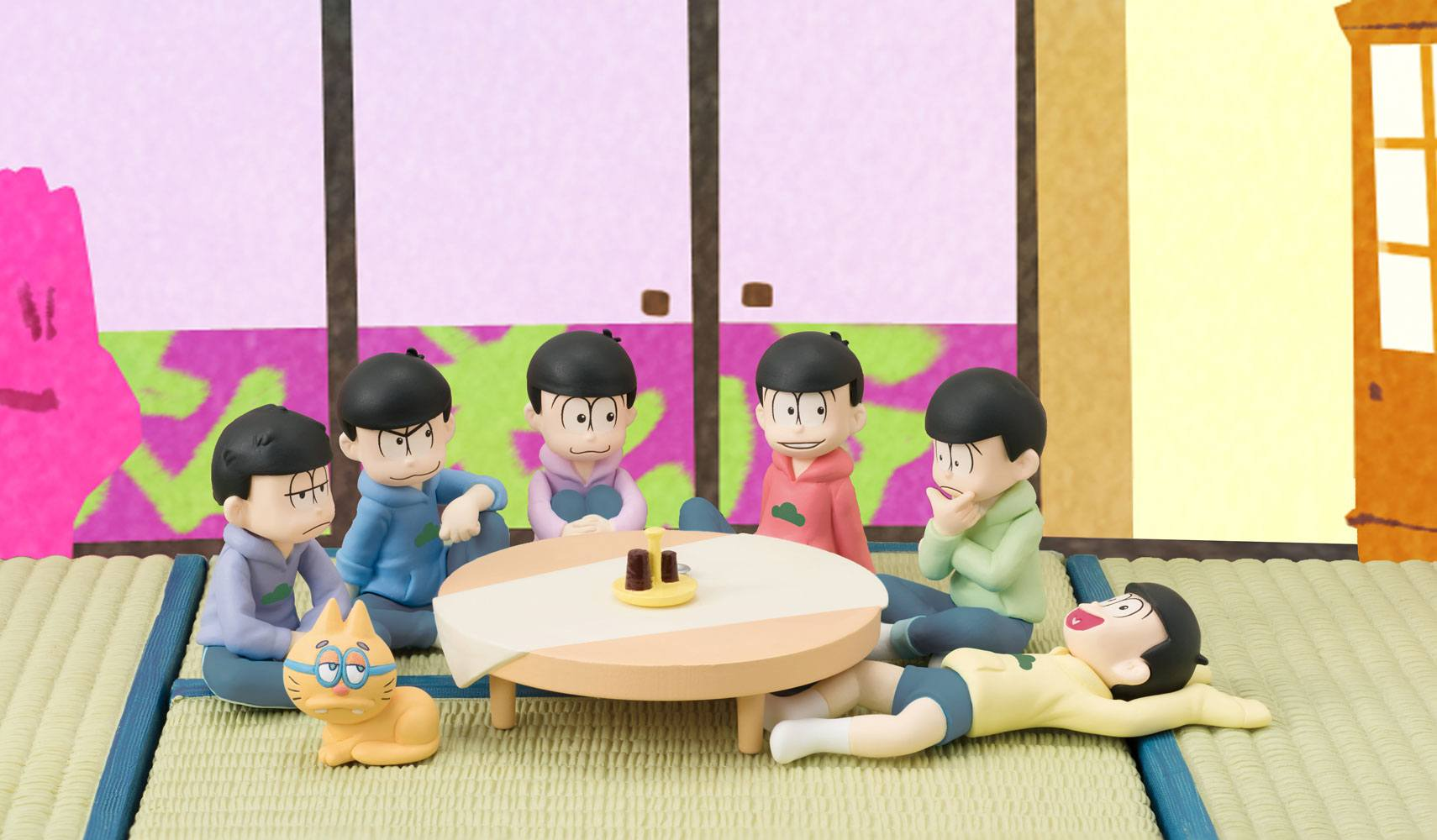 Osomatsu-san Palmate Mini Figures 6-Pack We are family! 6 cm