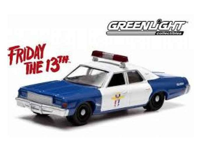 Friday the 13th Diecast Model 1/18 1978 Dodge Monaco Police