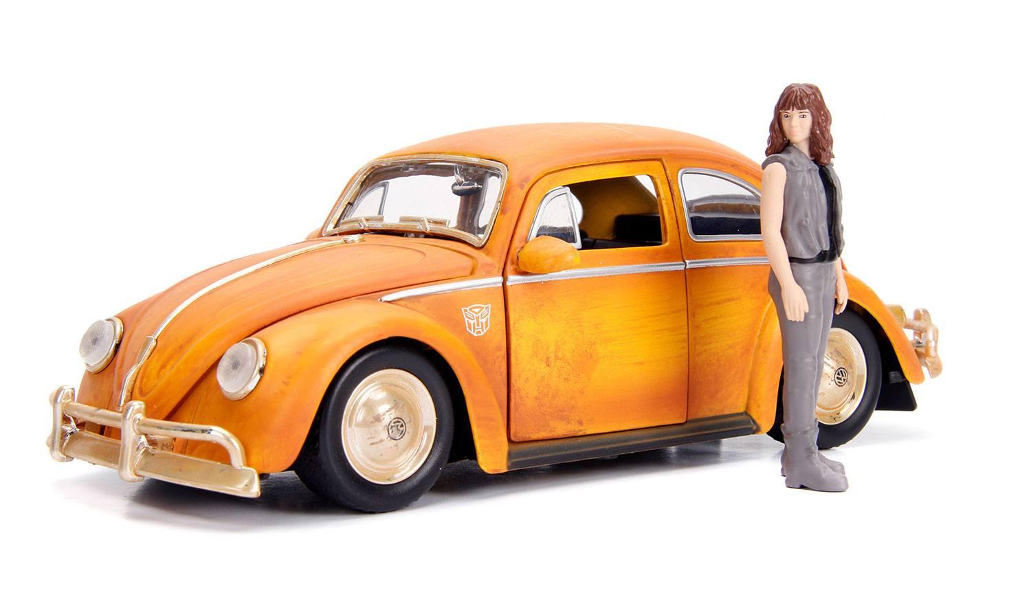 Transformers Bumblebee Diecast Model 1/24 Volkswagen Beetle with Figure
