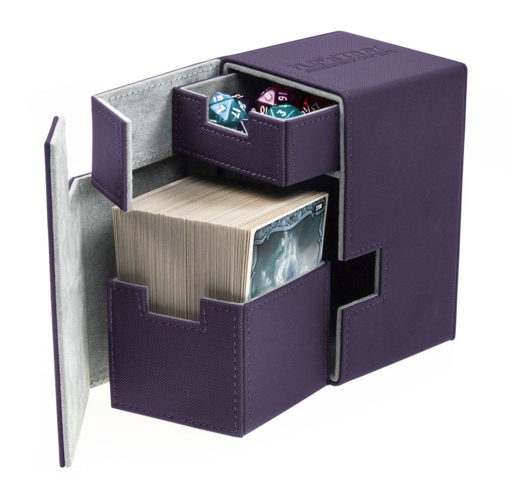 Ultimate Guard Flip´n´Tray  Deck Case 100+ Standard Size XenoSkin Purple