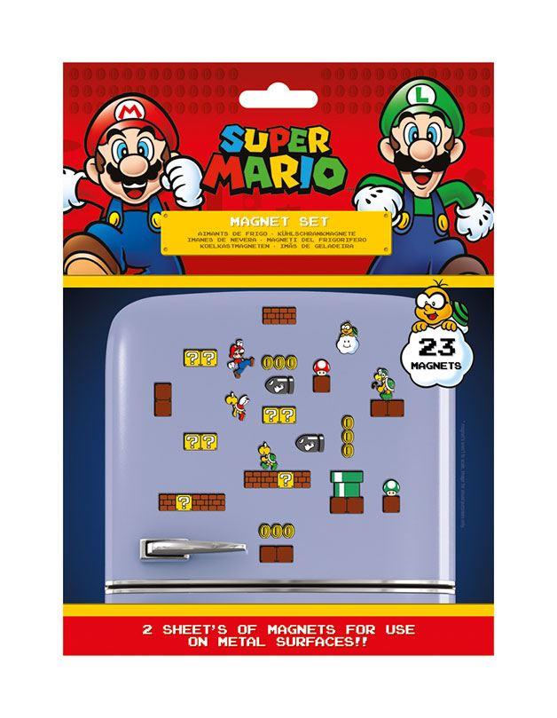 Super Mario Fridge Magnets Mushroom Kingdom