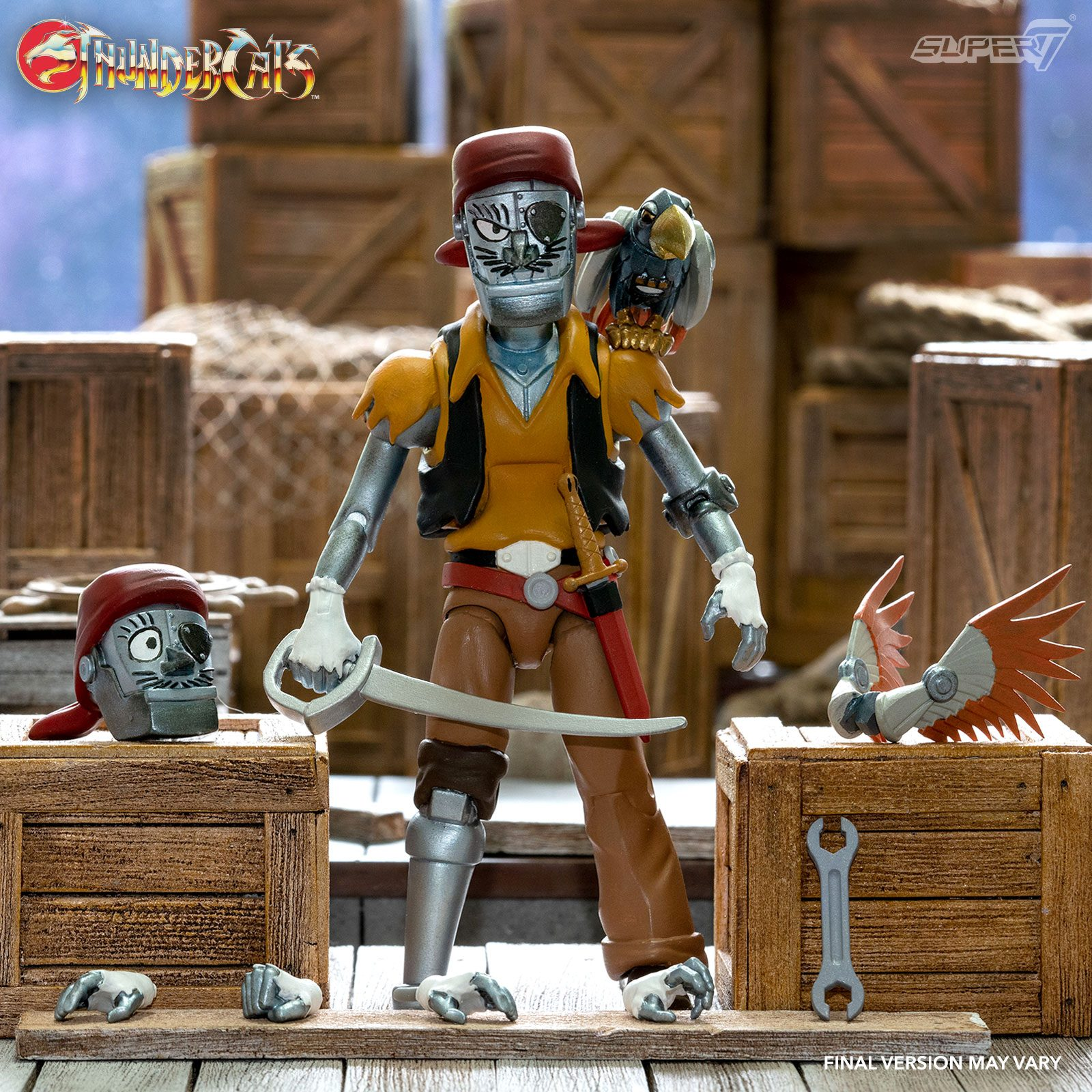 Thundercats Ultimates Action Figure Wave 3 Captain Cracker the Robotic Pirate Scoundrel 18 cm