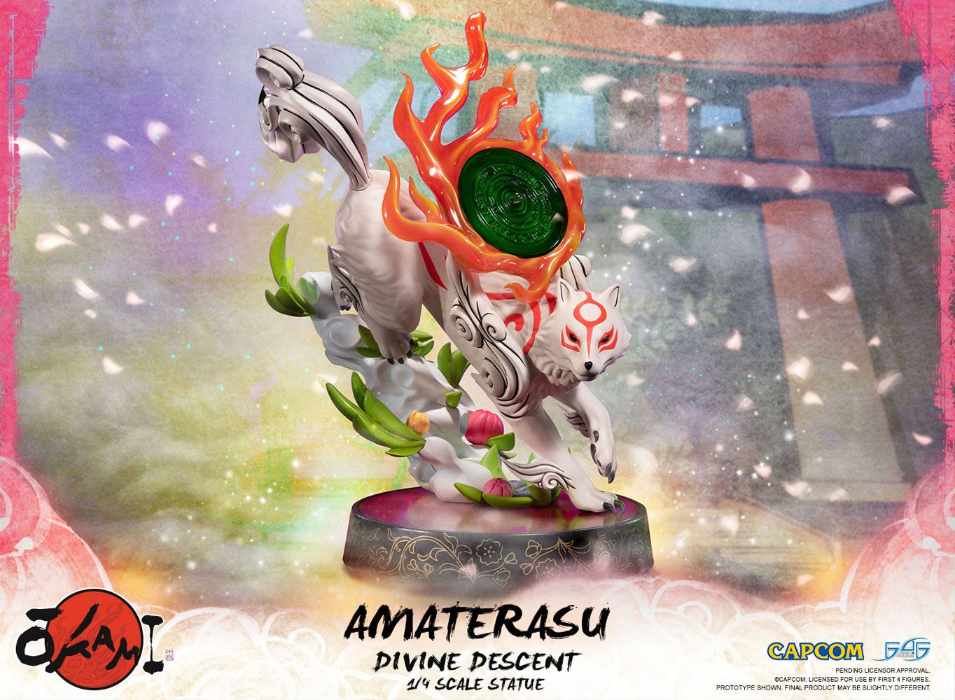 Okami Statue 1/4 Amaterasu Divine Descent 44 cm