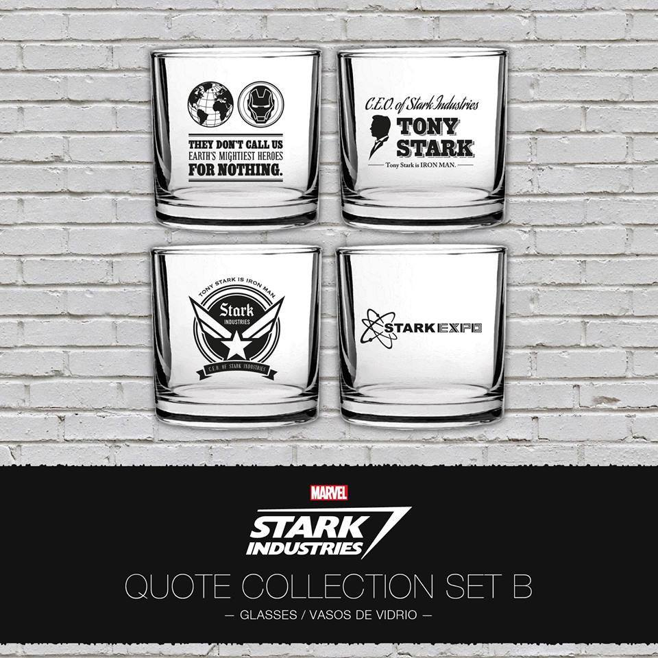 Iron Man Tumblers 4-Pack Stark Industries Quotes Set B