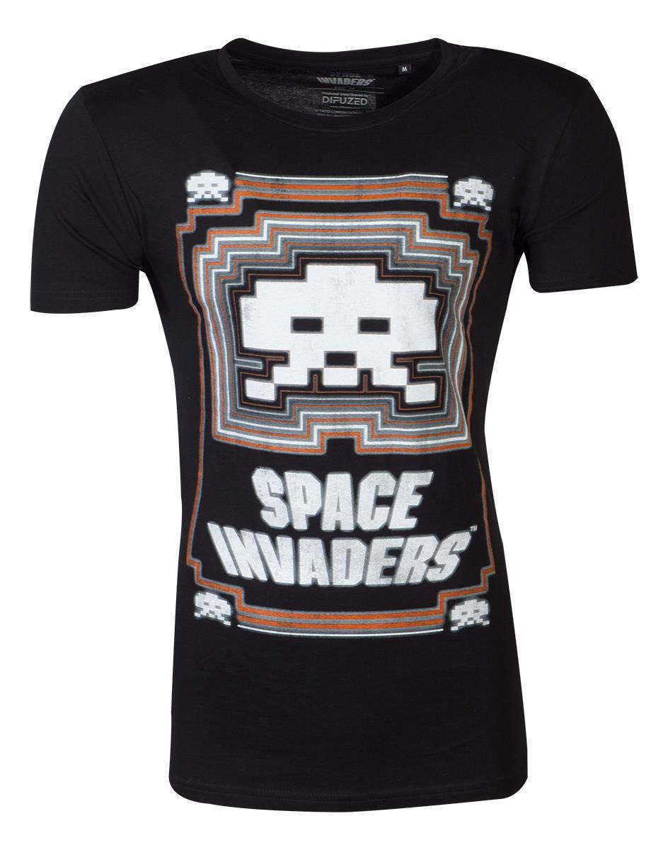 Space Invaders T-Shirt Glowing Invader Size L