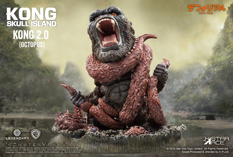 Kong Skull Island Deform Real Series Soft Vinyl Statue Kong 2.0 (Octopus) 16 cm
