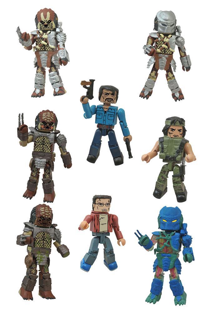 Predator Minimates Action Figures 5 cm Blind Bags Series 1 Display (18)