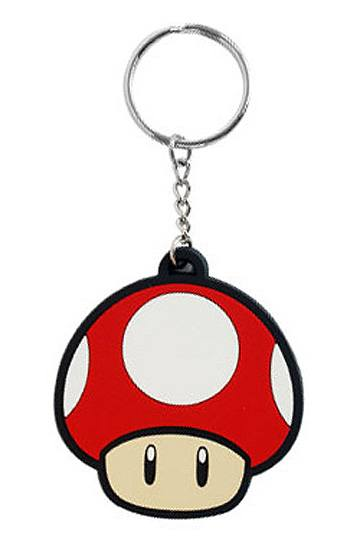 Super Mario Bros. Rubber Keychain Super Mushroom 6 cm