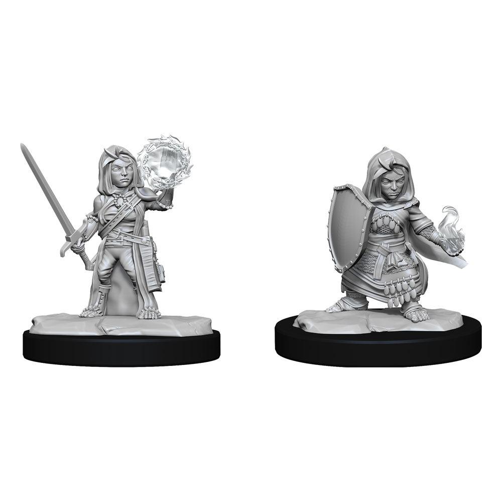 Pathfinder Battles Deep Cuts Unpainted Miniatures Halfling Cleric Female Case (6)