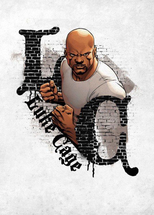 Marvel Comics Metal Poster The Defenders Luke Cage 32 x 45 cm