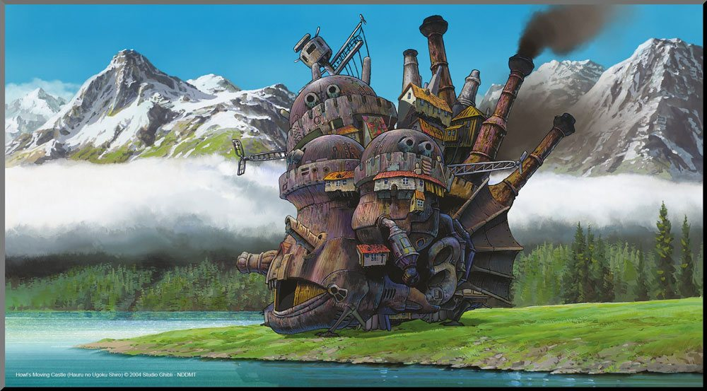 Howl's Moving Castle Wooden Wall Art Movie Poster