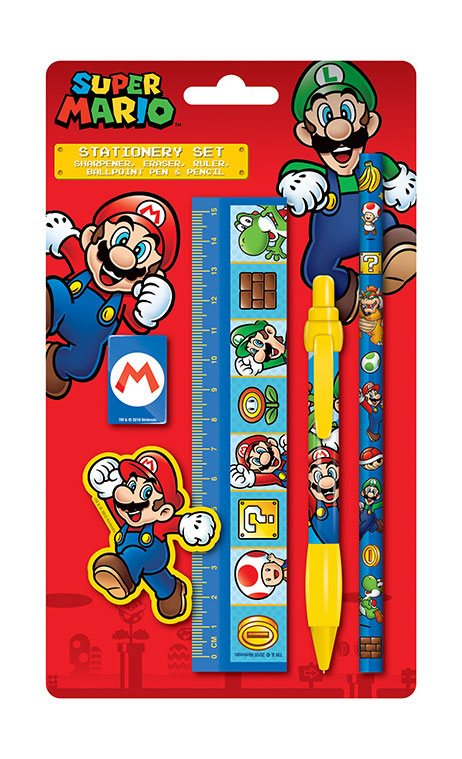 Super Mario 5-Piece Stationery Set