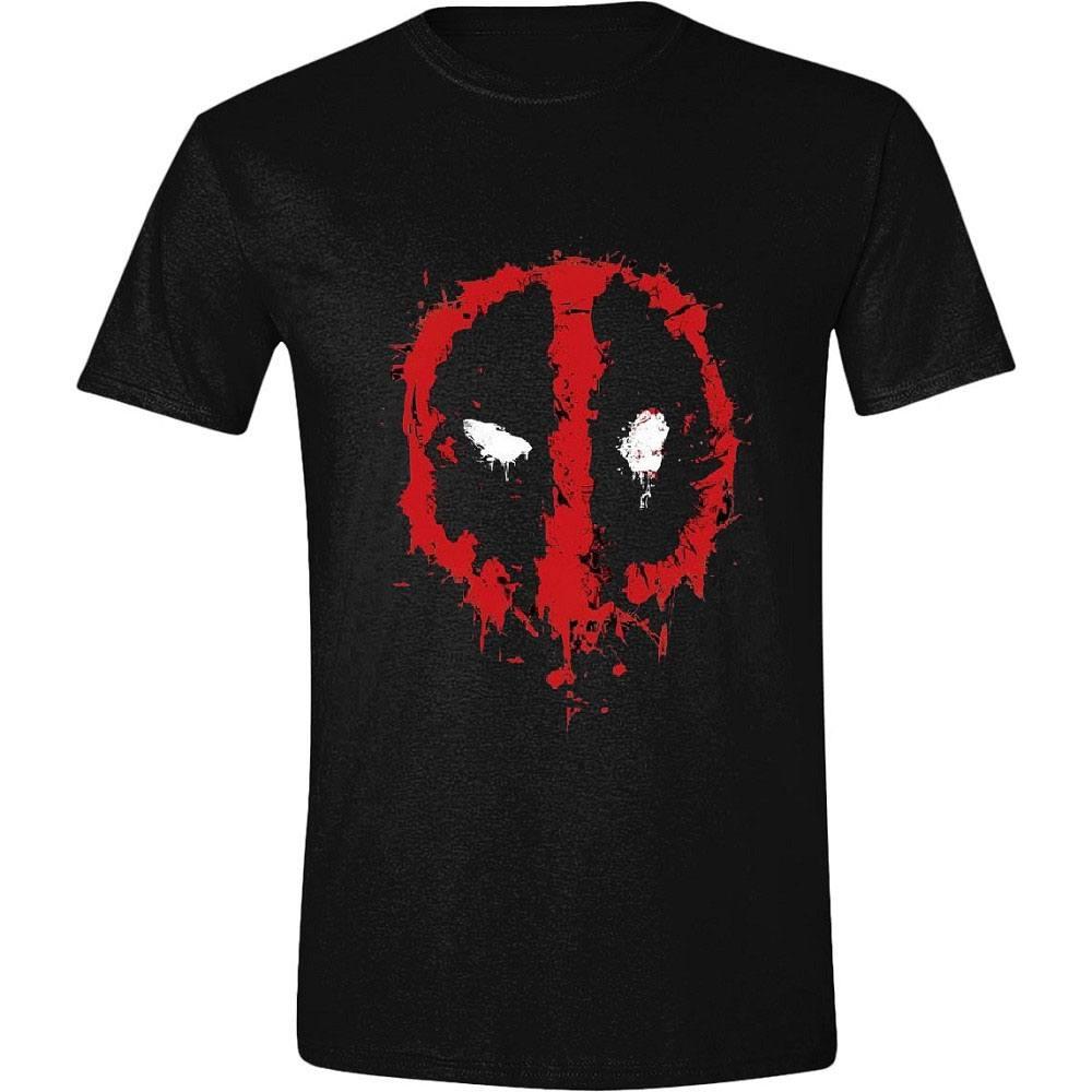 Deadpool T-Shirt Splatter Logo Size M