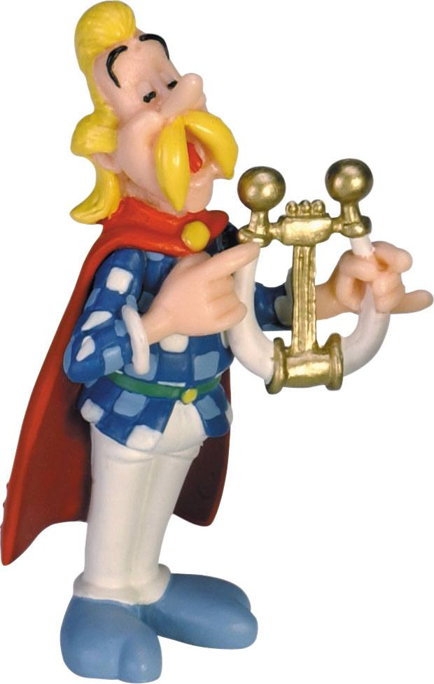 Asterix Figure Cacofonix playing his lyre 7 cm