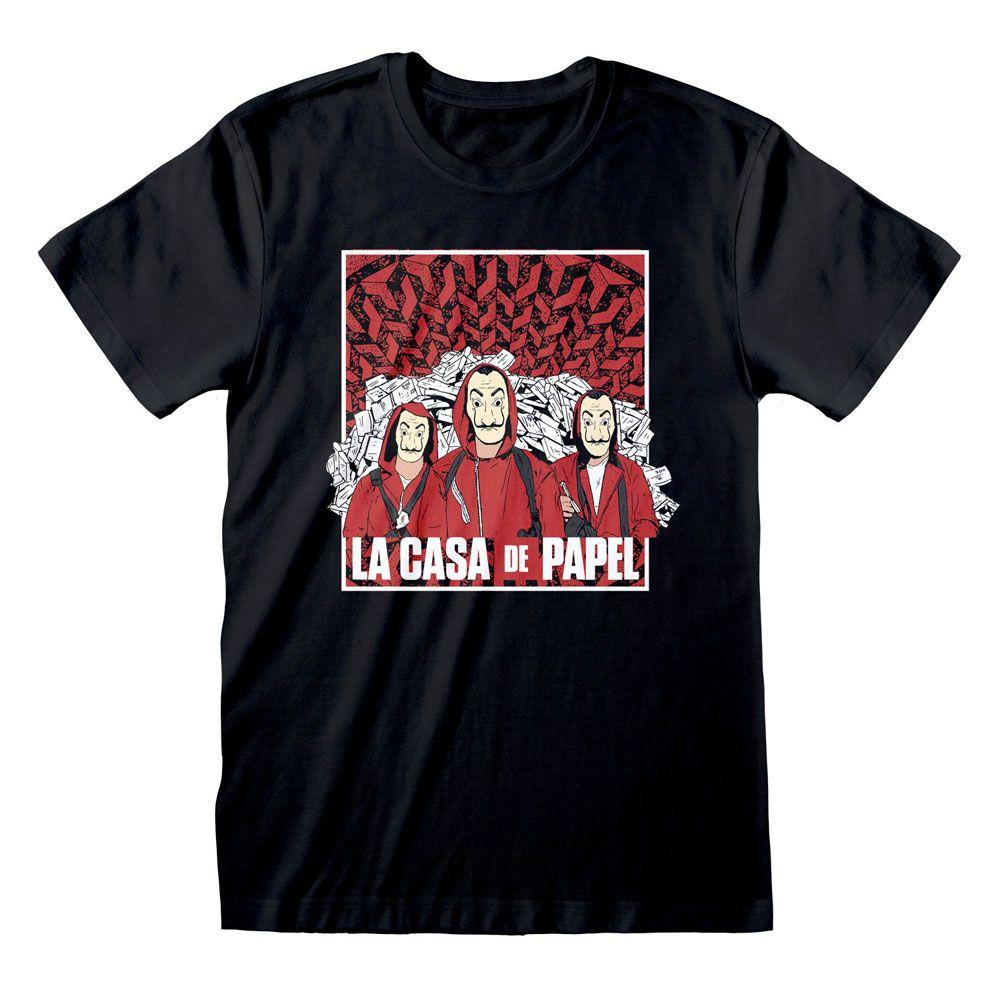 Money Heist T-Shirt Group Shot Size XL