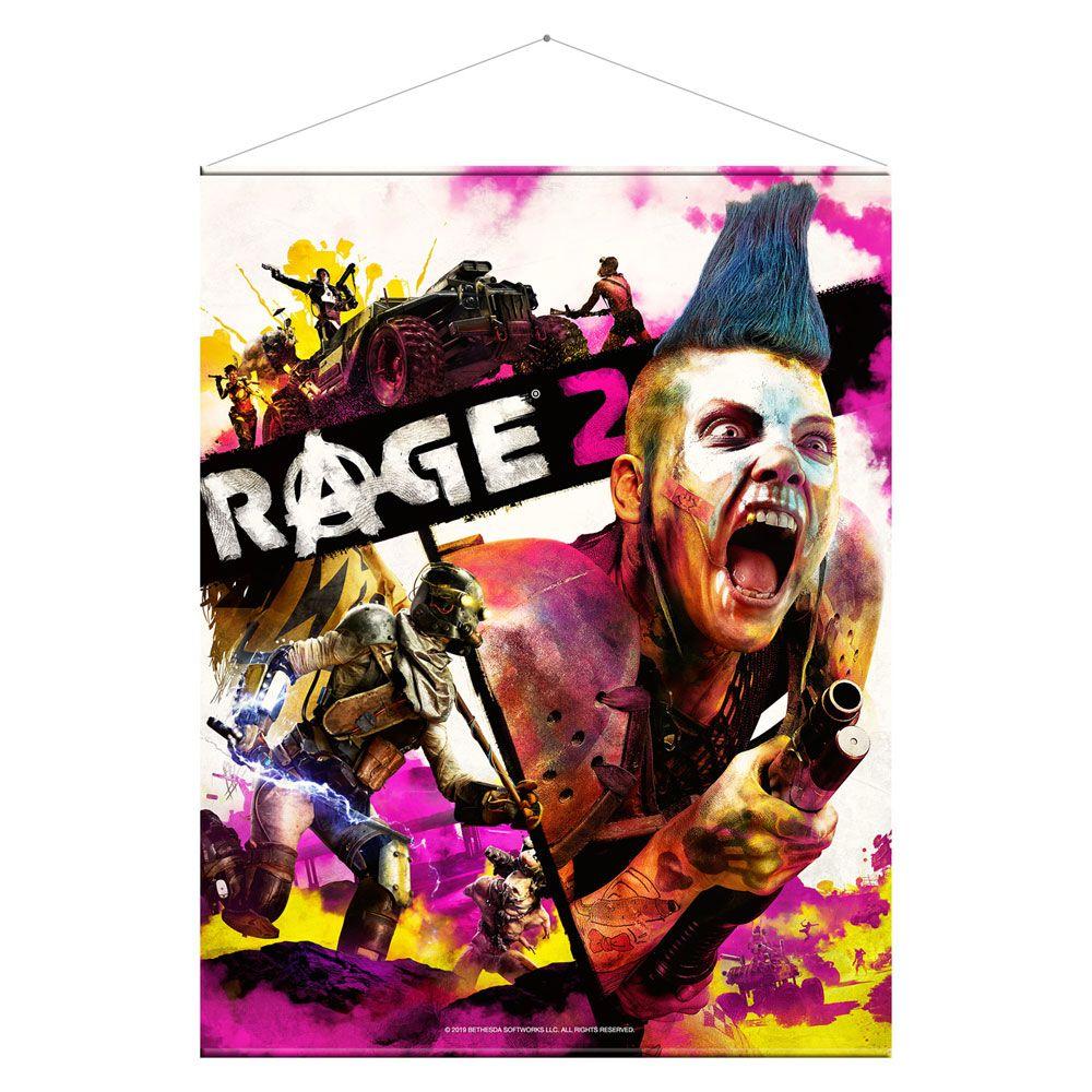 Rage 2 Wallscroll Keyart 100 x 77 cm