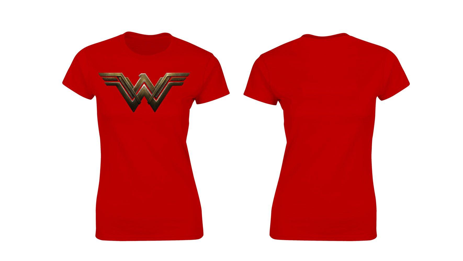 DC Universe Ladies T-Shirt Wonder Woman Logo Size M