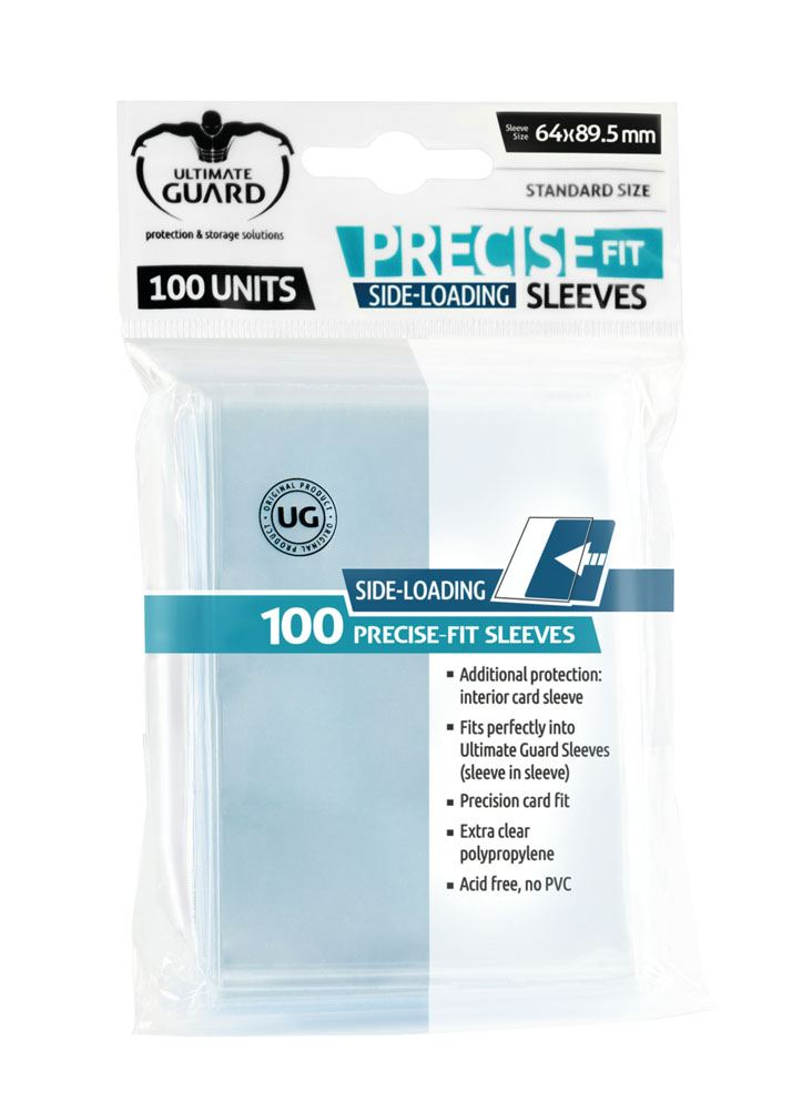Ultimate Guard Precise-Fit Sleeves Side-Loading Standard Size Transparent (100)