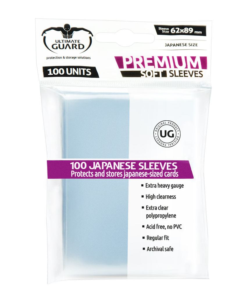 Ultimate Guard Premium Soft Sleeves Japanese Size Transparent (100)