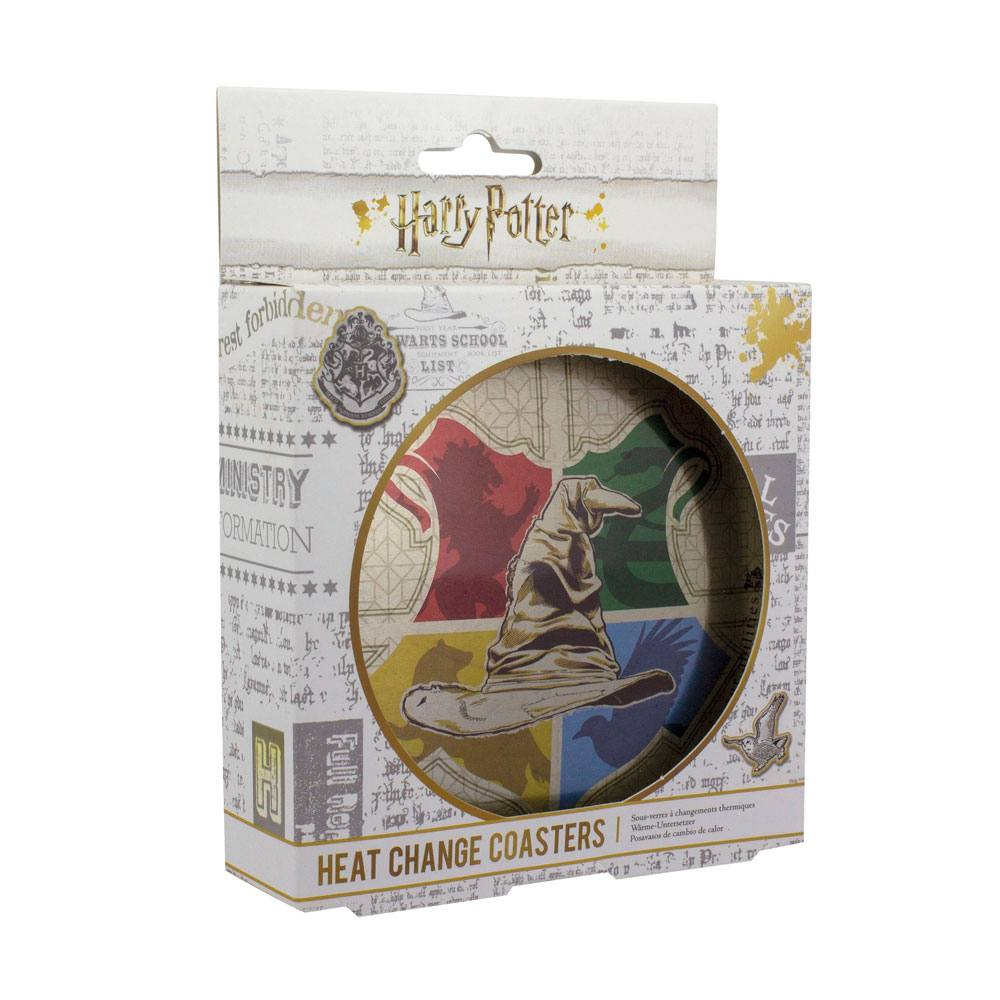 Harry Potter Heat Change Coaster 4-Pack Sorting Hat