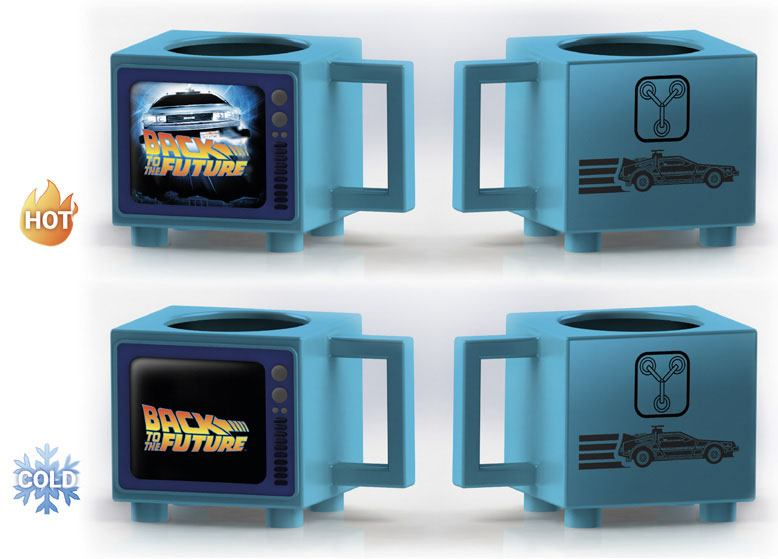 Back To The Future Heat Change Mug Flux Capacitor
